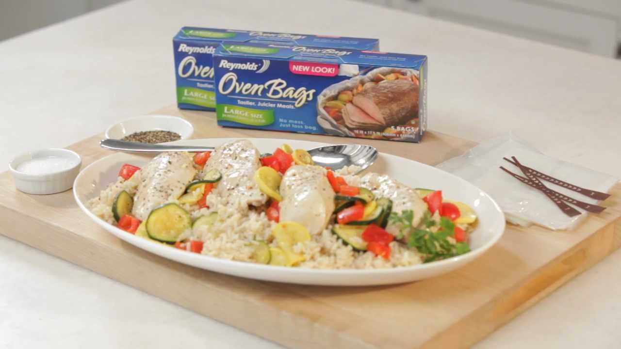 Cooking Chicken and Rice with Reynolds® Oven Bags   How to ...