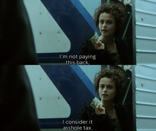 Fight Club. Helena Bonham Carter is one of the best parts of the film!!!