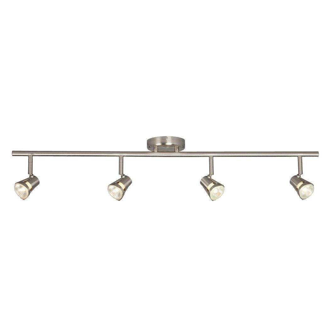 87 galaxy lighting 755594bn 4 light halogen fixed track lighting 87 galaxy lighting 755594bn 4 light halogen fixed track lighting kit brushed nickel lighting aloadofball Image collections