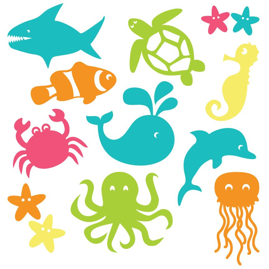 dive into summer with free under the sea clip art eleven adorable rh pinterest com under the sea clipart images under the sea clip art shapes