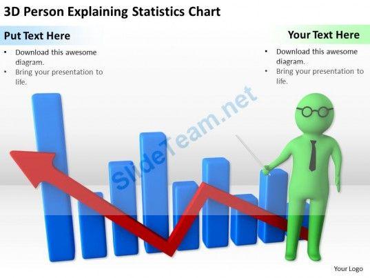 3D Person Explaining Statistics Chart Ppt Graphics Icons