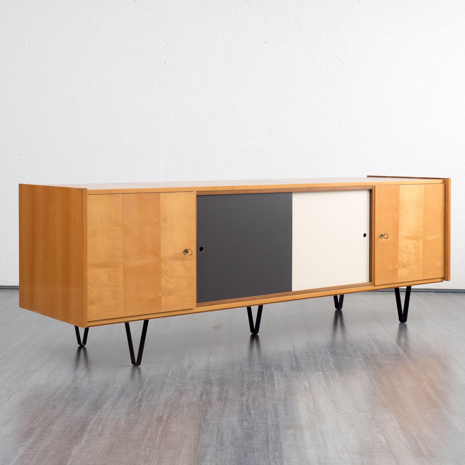 kolectiv design buffet large et profond avec pieds en boucle ann es 60 acheter vendre sur. Black Bedroom Furniture Sets. Home Design Ideas