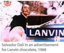 of course Salvador Dali recommends chocolate by Lanvin. He took the money and ran.