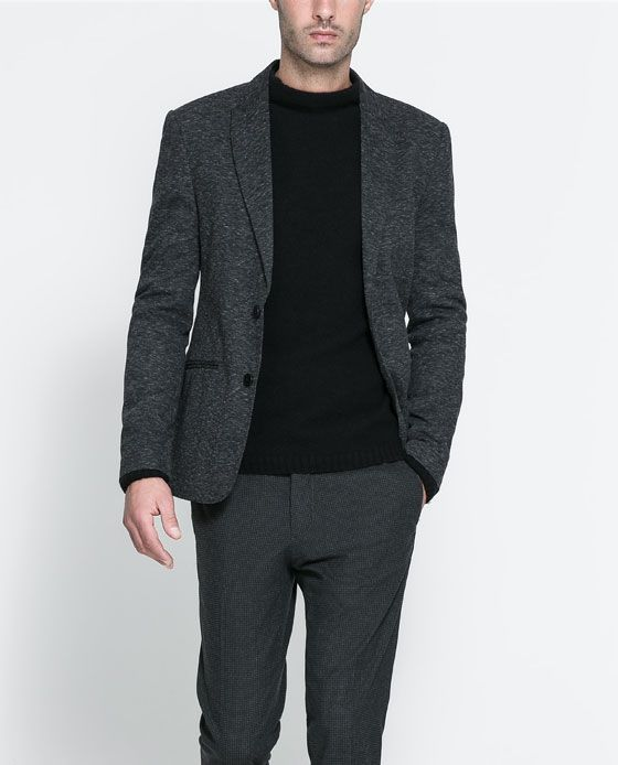 8796970e98 Image 1 of MARL BLAZER from Zara Zara Man, Blazers, Single Breasted, Suit
