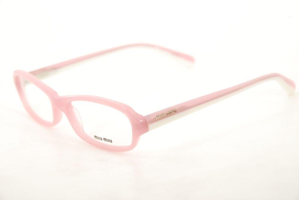 762b072e941 New Authentic Miu Miu VMU01H ABO-1O1 Pink White 52mm Frames Eyeglasses RX