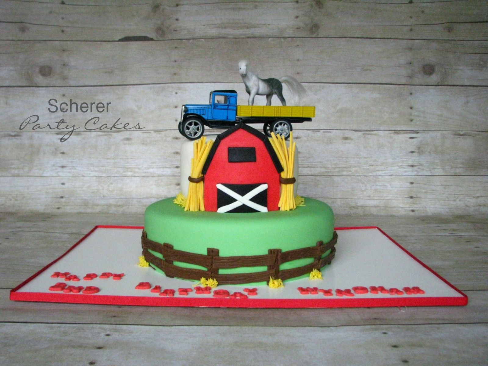 A barn themed birthday cake!! | Themed birthday cakes ...