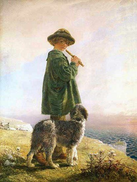 The Piping Shepherd, Alfred Downing Fripp (1822 – 1895, English)