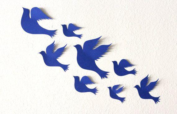 3d bird wall art - Bird wall decals - 3d wall decor - nursery decor wall  sc 1 st  Pinterest & Bird wall decal 3d wall decor nursery decor wall art bird wall ...