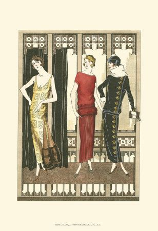 Art Deco Provocative Manners In The World Of Art Deco Art Deco Paintings Framed Art Prints Poster Art