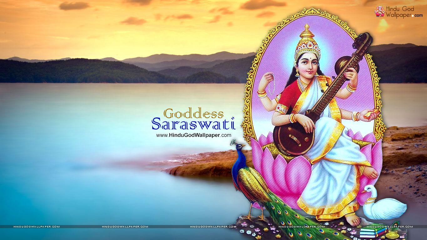 Maa Saraswati Hd Wallpaper For Desktop Download Saraswati Picture Hd Wallpaper Desktop Wallpaper