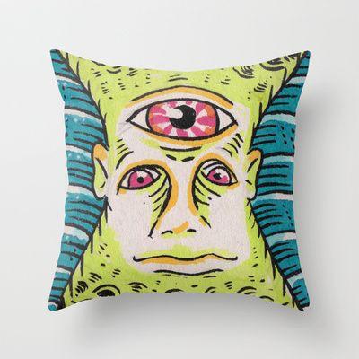 Dogbowl Throw Pillow by Francesco Dibattista - $20.00