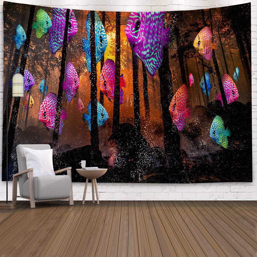 Painted Leopard Wall Hanging Tapestry Psychedelic Bedroom Home Decoration