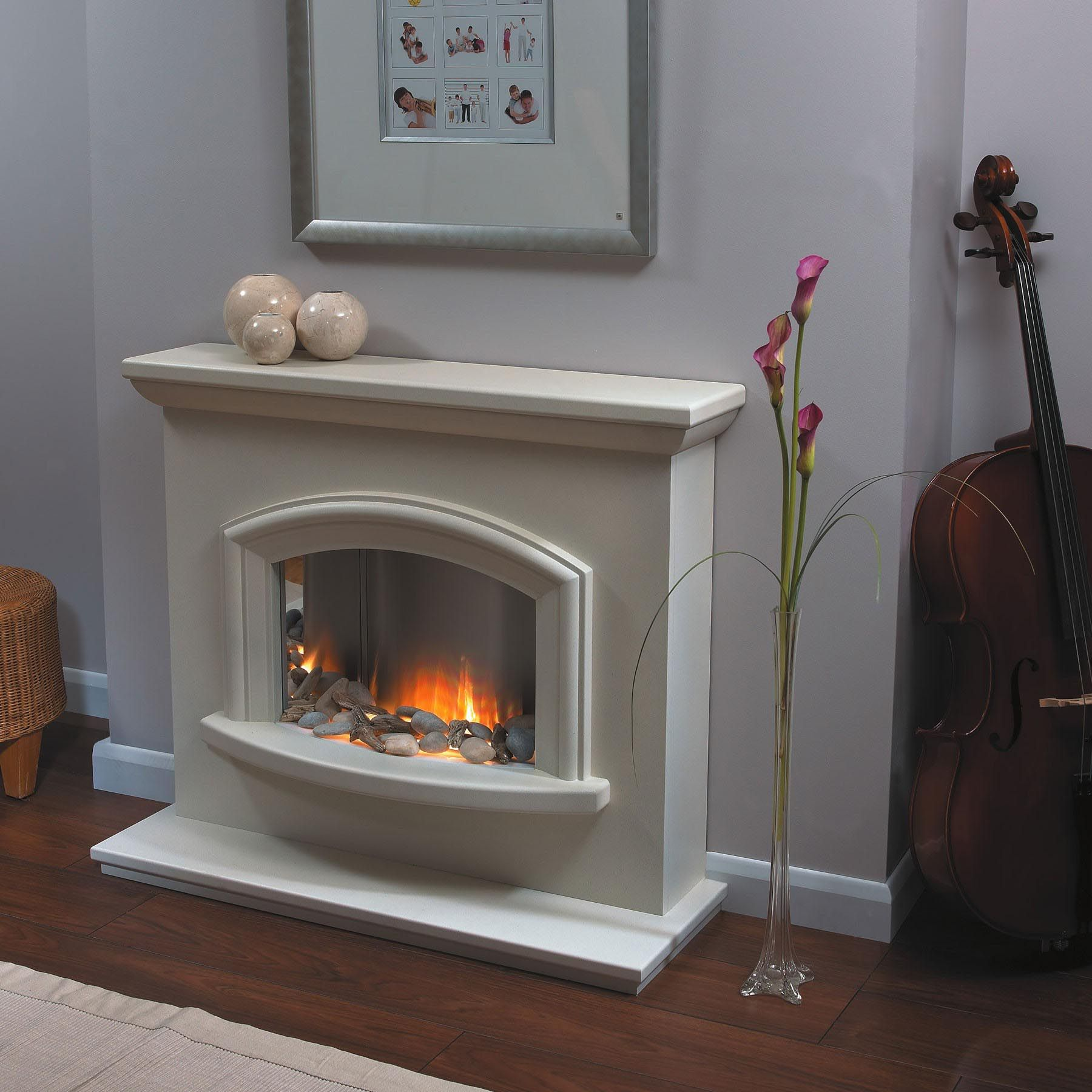 Contemporary Electric Fireplace Suites   Fireplace suites ...