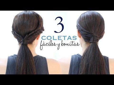 Peinados Con Coletas Faciles Y Elegantes Paso A Paso Youtube
