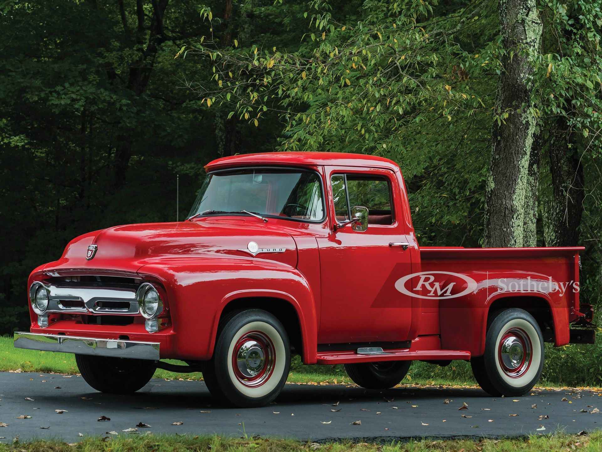 1956 Ford F 100 Pickup Hershey Recently Completed Restoration Noted As Having Been Driven 52 963 Actual Miles Natura 1956 Ford F100 1956 Ford Truck Ford Trucks