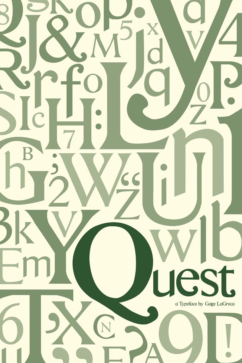 Quest Font Free fonts download, Logo