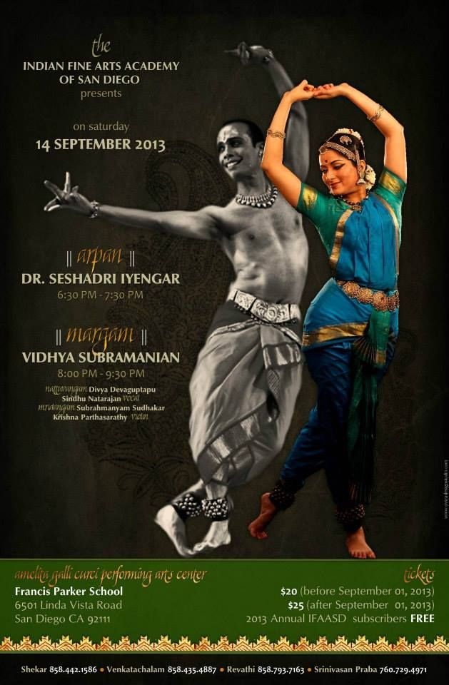 Classical Indian Dance Concert Poster Design By Oviya Studio