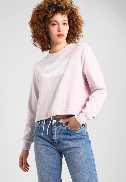 Le Moins Cher Prix En Ligne Nike Sportswear CREW CROP - Sweatshirt - barely rose/white Nouveau Prix Pas Cher Ordre Pré Sortie Prix Bas À Vendre GHWATrsp9m