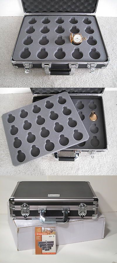 Boxes Cases And Watch Winders 173695: Locking Watch Storage Case For 40  Pocket Watches Collectors Briefcase Aluminum BUY IT NOW ONLY: $109.0