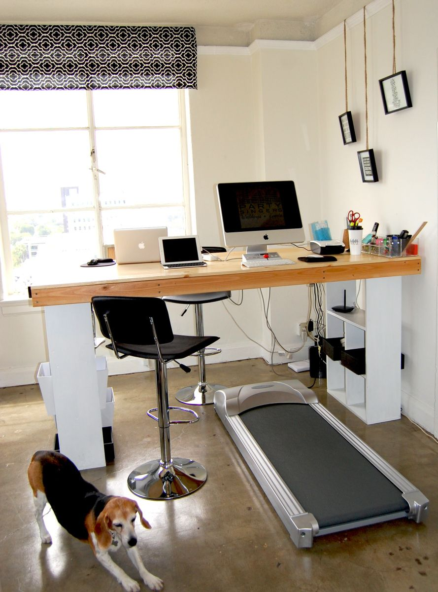 how to build a standing treadmill desk for the home pinterest treadmill desk desks and. Black Bedroom Furniture Sets. Home Design Ideas
