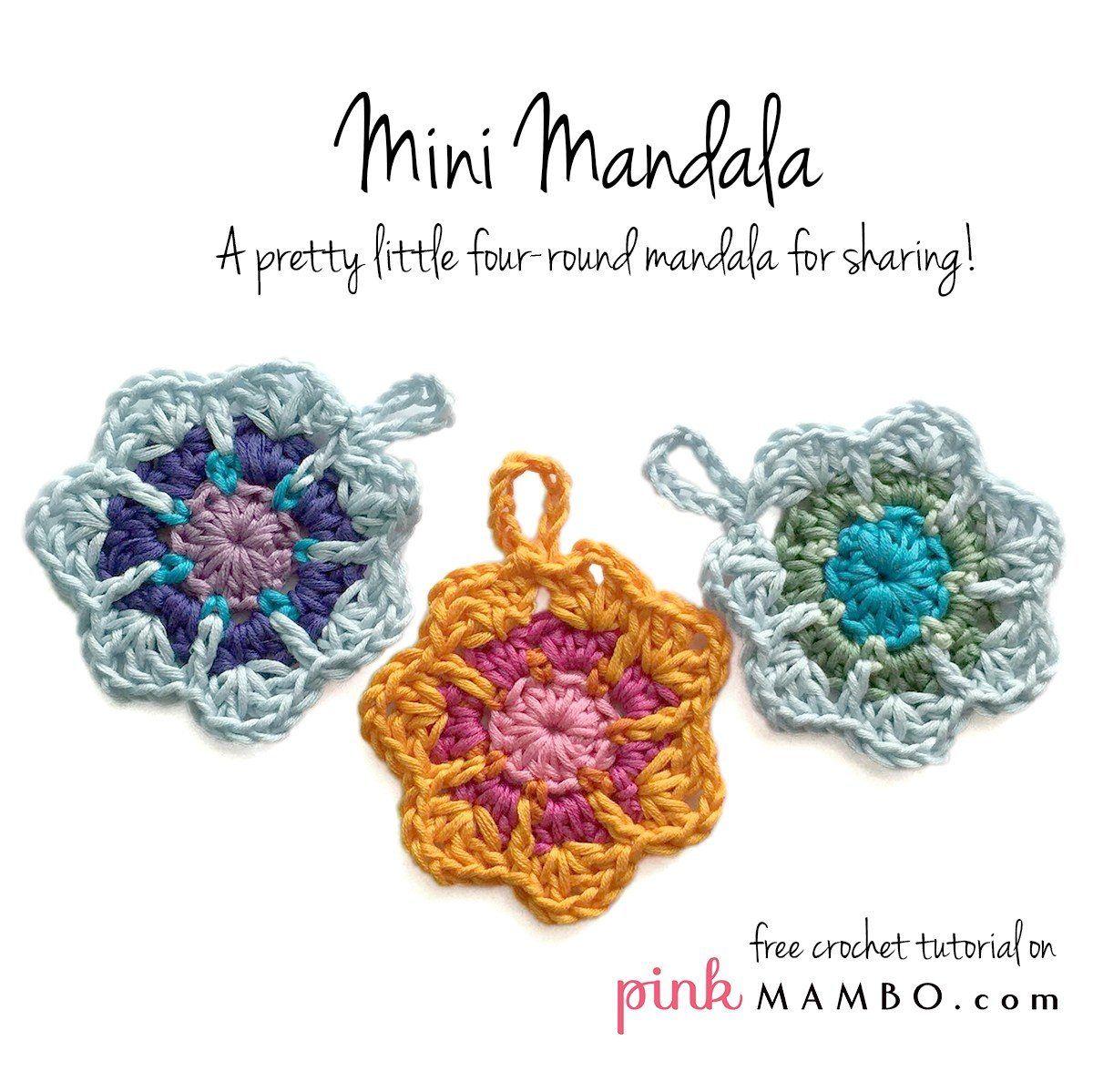 Gzhel Mini Mandala Free Crochet Pattern + Many Mini Crochet Mandalas ...