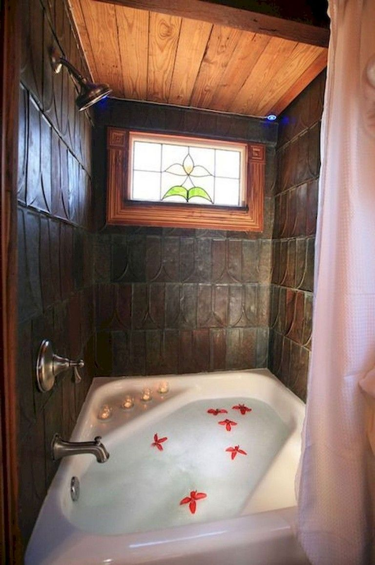 53+ Stunning Tiny House Bathroom Shower Tub Ideas #tinyhousebathroom
