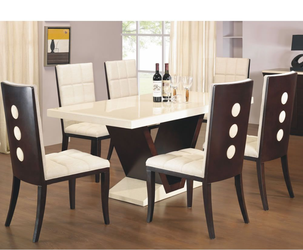 Types And Styles Of Dining Room Tables That Will Fall In Love With Mesmerizing Marble Dining Room Sets Inspiration