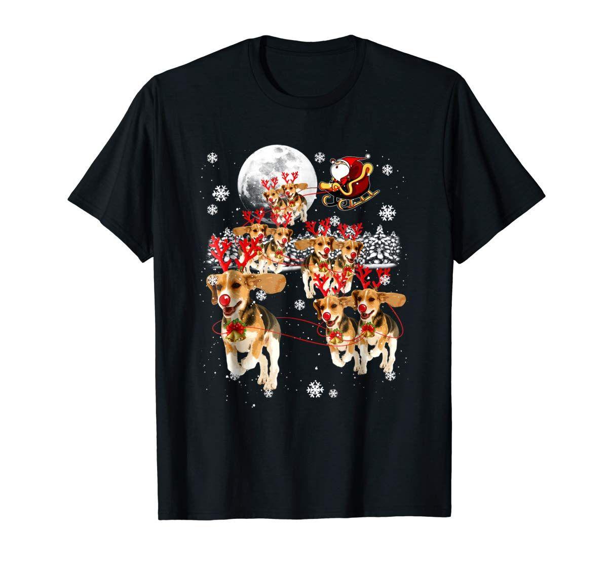 Beagle Dog Metal Santa Sleigh