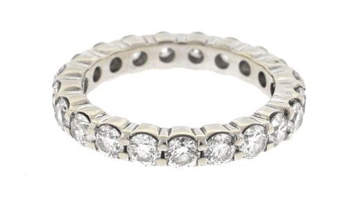 14kt White Gold Diamond Eternity Band Ring Boca Raton Pawn | eBay