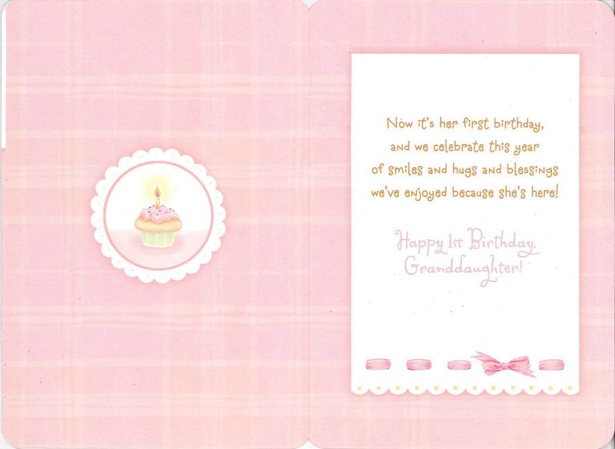For A Sweet Granddaughters First Birthday Card Scarletts 1st