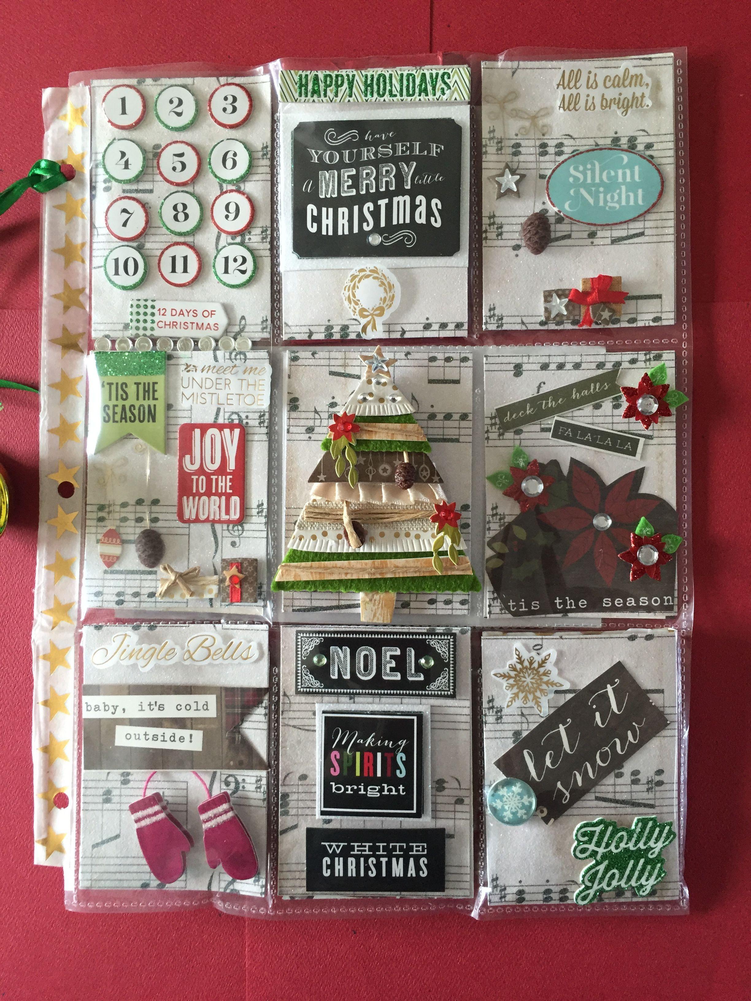 Christmas Carols Pocket Letter Pocket letters, Book