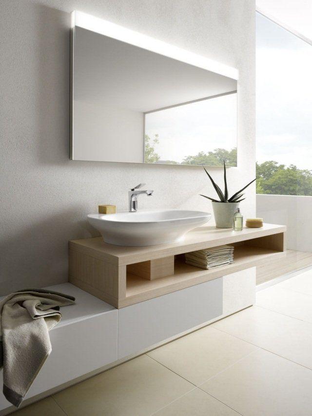 Luminaire salle de bain moderne comment choisir l - Glace de salle de bain avec eclairage ...