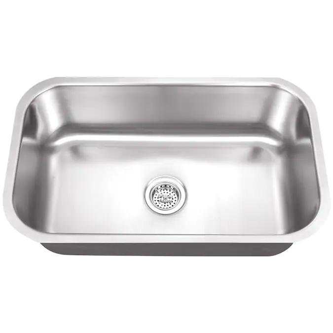 Superior Sinks Undermount 29 75 In X 18 In Brushed Satin Single Bowl Kitchen Sink Lowes Com Undermount Stainless Steel Sink Single Bowl Kitchen Sink Kitchen Sink