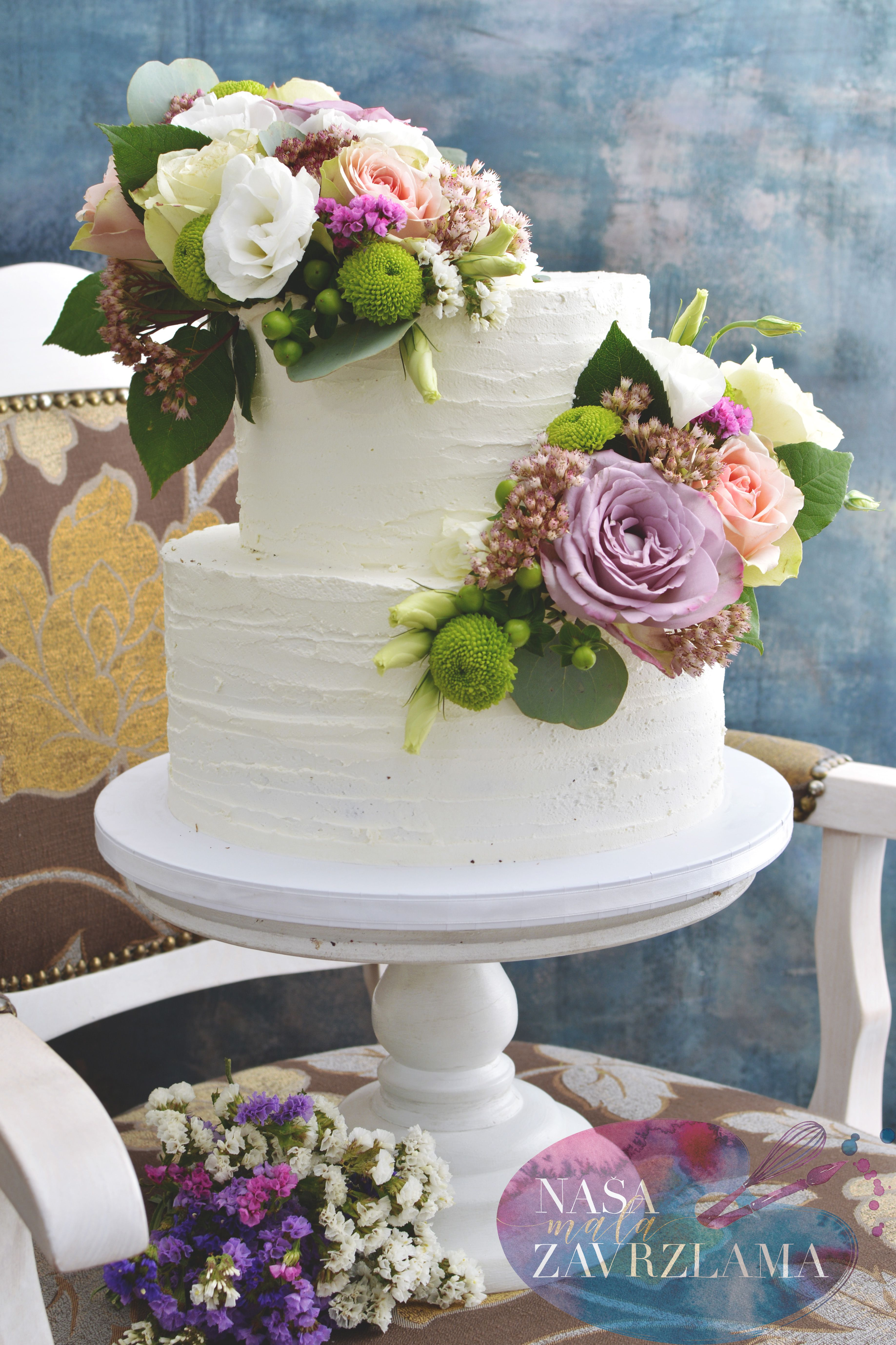 Fresh flowers cake freshflowerscake