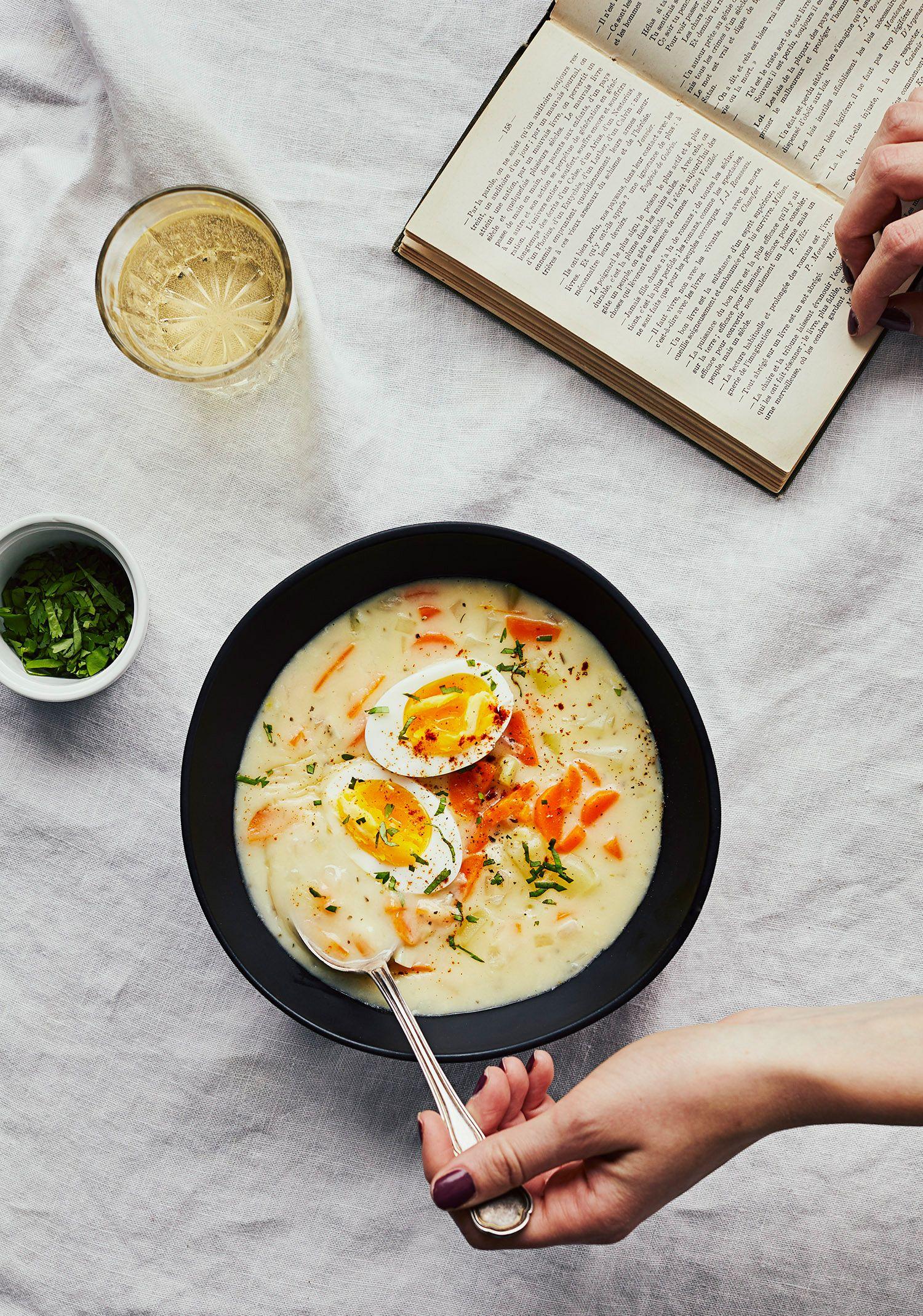 Soupe-repas aux légumes pour 1 personne
