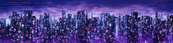 Science fiction neon city night panorama  3D illustration of dark futuristic scifi city lit with blight neon lights  Buy this stock illustration and explore similar illus...