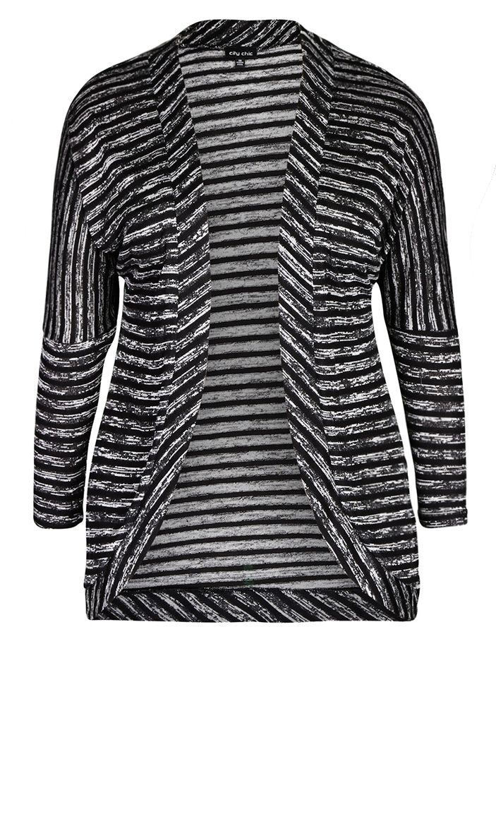 f39b8537839 City Chic - MARLE STRIPE CARDI - Women s Plus Size Fashion