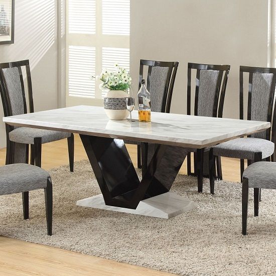 41+ Marble dining room table and chairs Trending