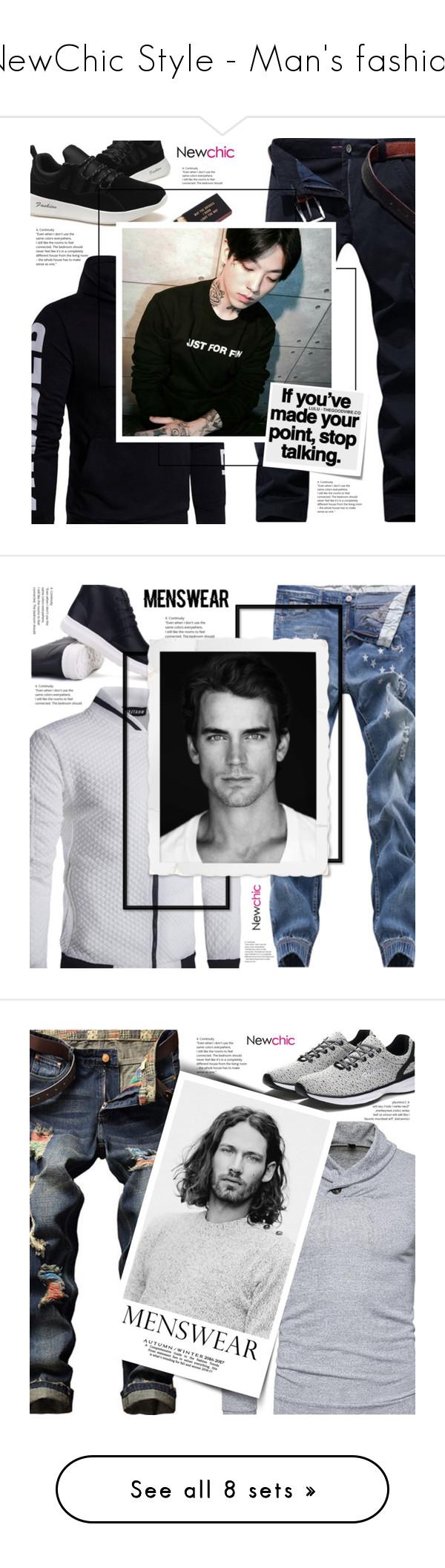 """NewChic Style - Man's fashion"" by mymilla on Polyvore featuring Post-It, men's fashion, menswear, Chanel, Kiehl's, DUO, newchic e lovenewchic"