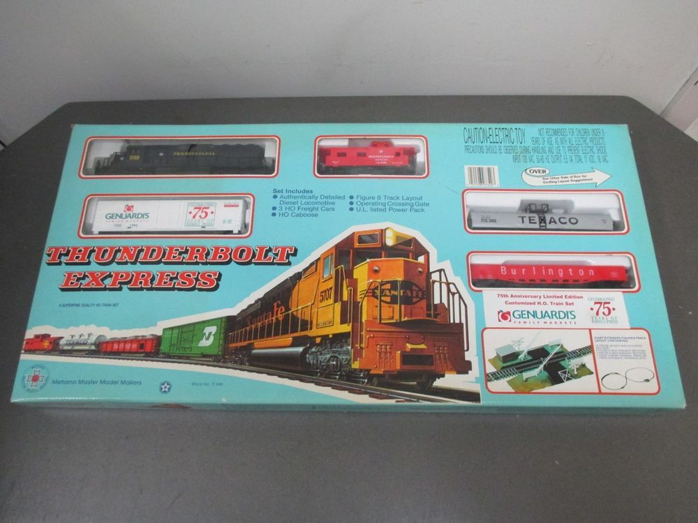 Thunderbolt Express HO Scale Train Set Genuardi's 75th