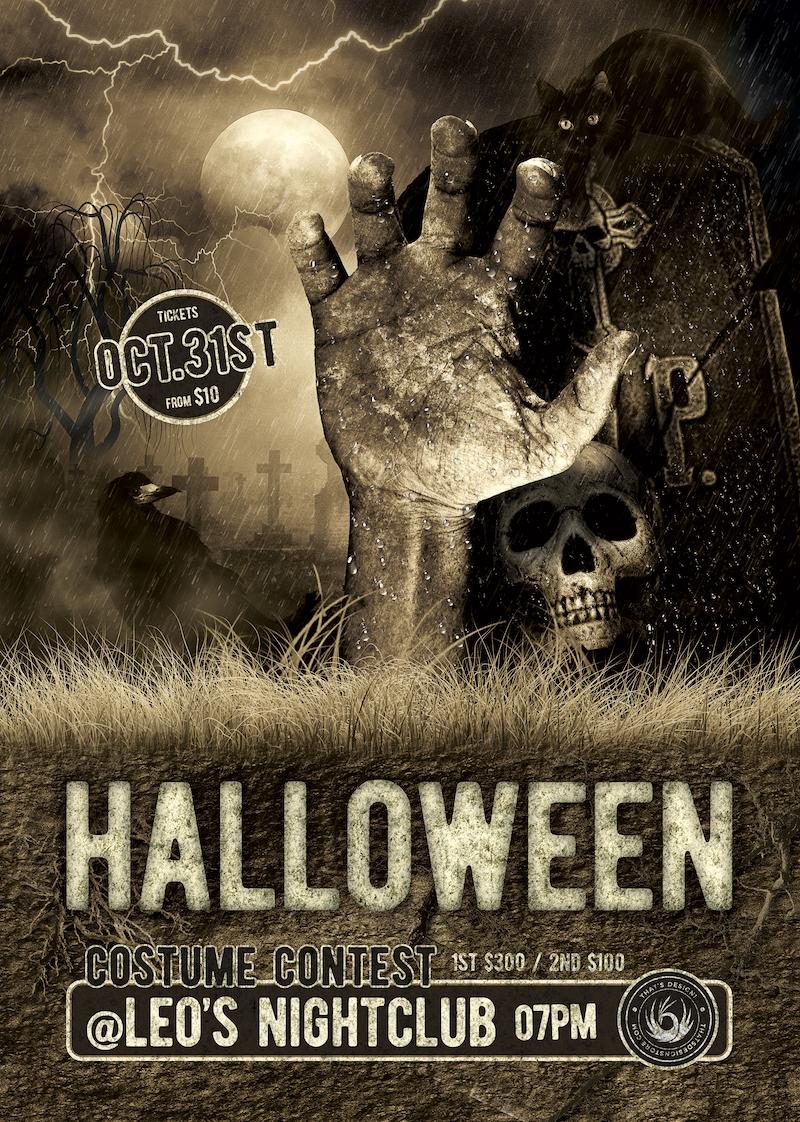 Halloween Flyer Template PSD Design to customize Vol.2