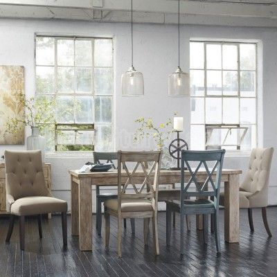 Mestler Customizable Dining Set w Weathered Pine Table