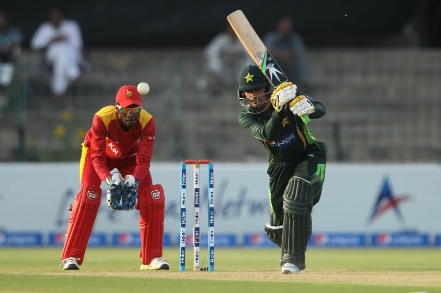 Hafeez hit a runaball 80 at the highest point of the