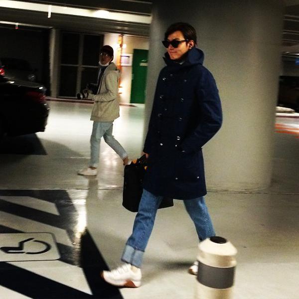 Lee Min Ho's arrival in Paris, March 10, 2015.