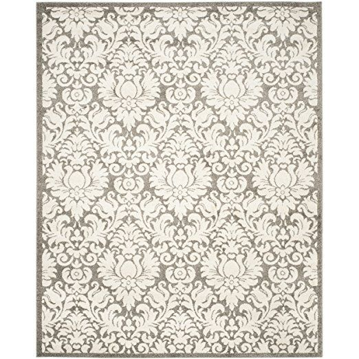 Amazon.com: Safavieh Amherst Collection AMT427R Dark Grey and Beige Indoor/ Outdoor Area Rug (8' x 10'): Kitchen & Dining