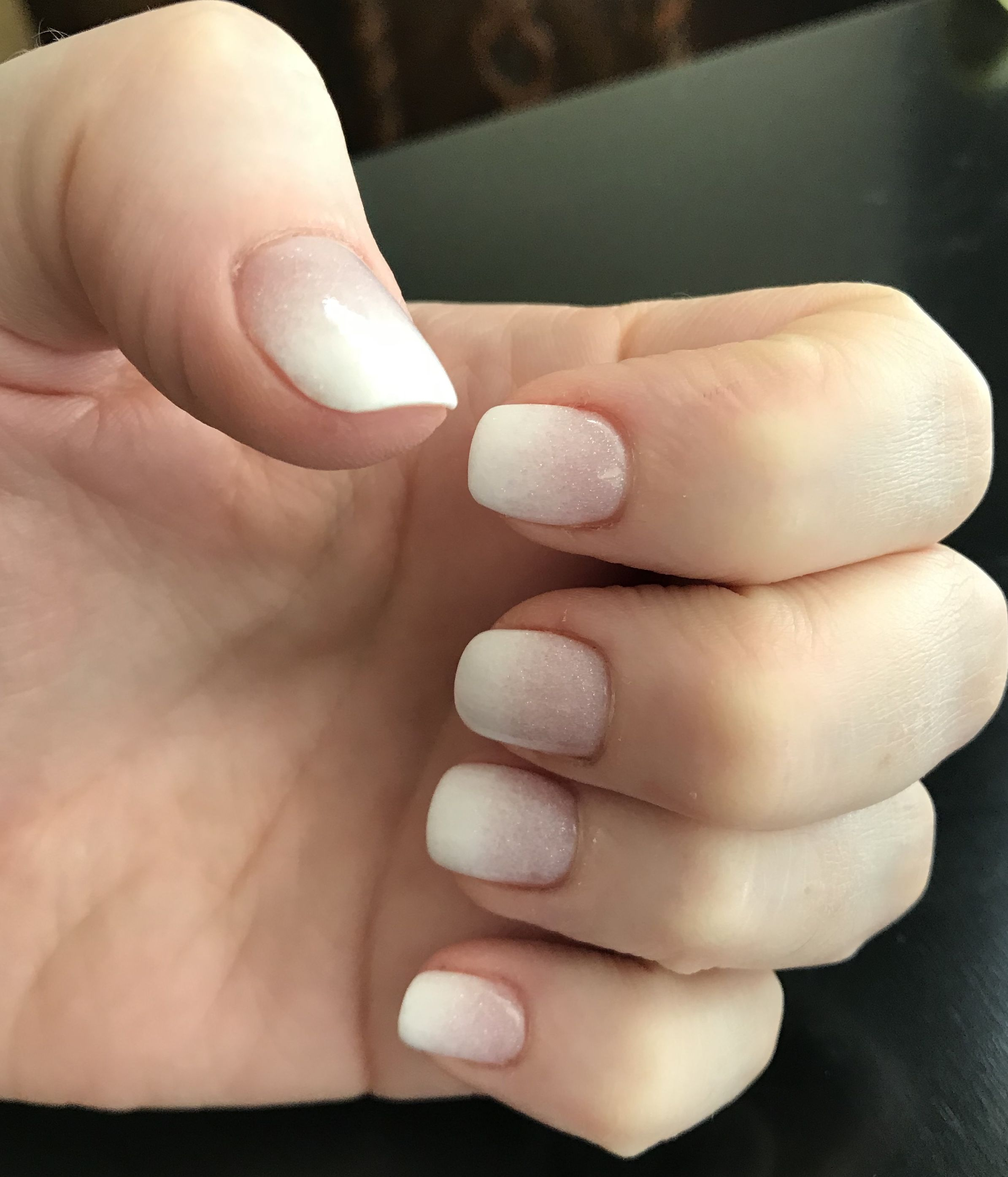 French Ombre Dipping Powder Powder Nails Dipped Nails French Tip Nails