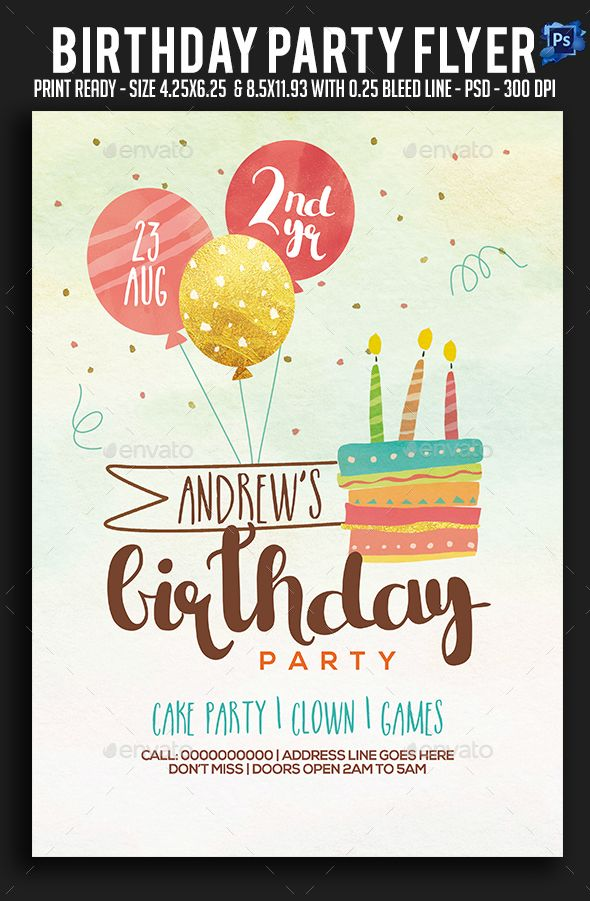 birthday party flyer clubs