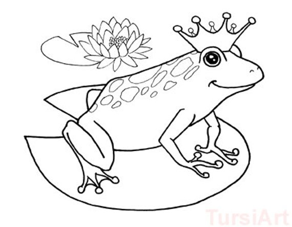 12 Frog Prince Coloring Postcards One Dozen Cards To Color And