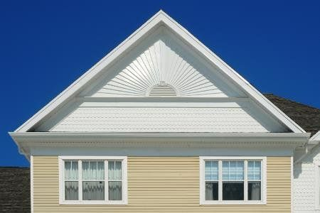 Sunburst Pattern Siding On Gable Remodel Siding And