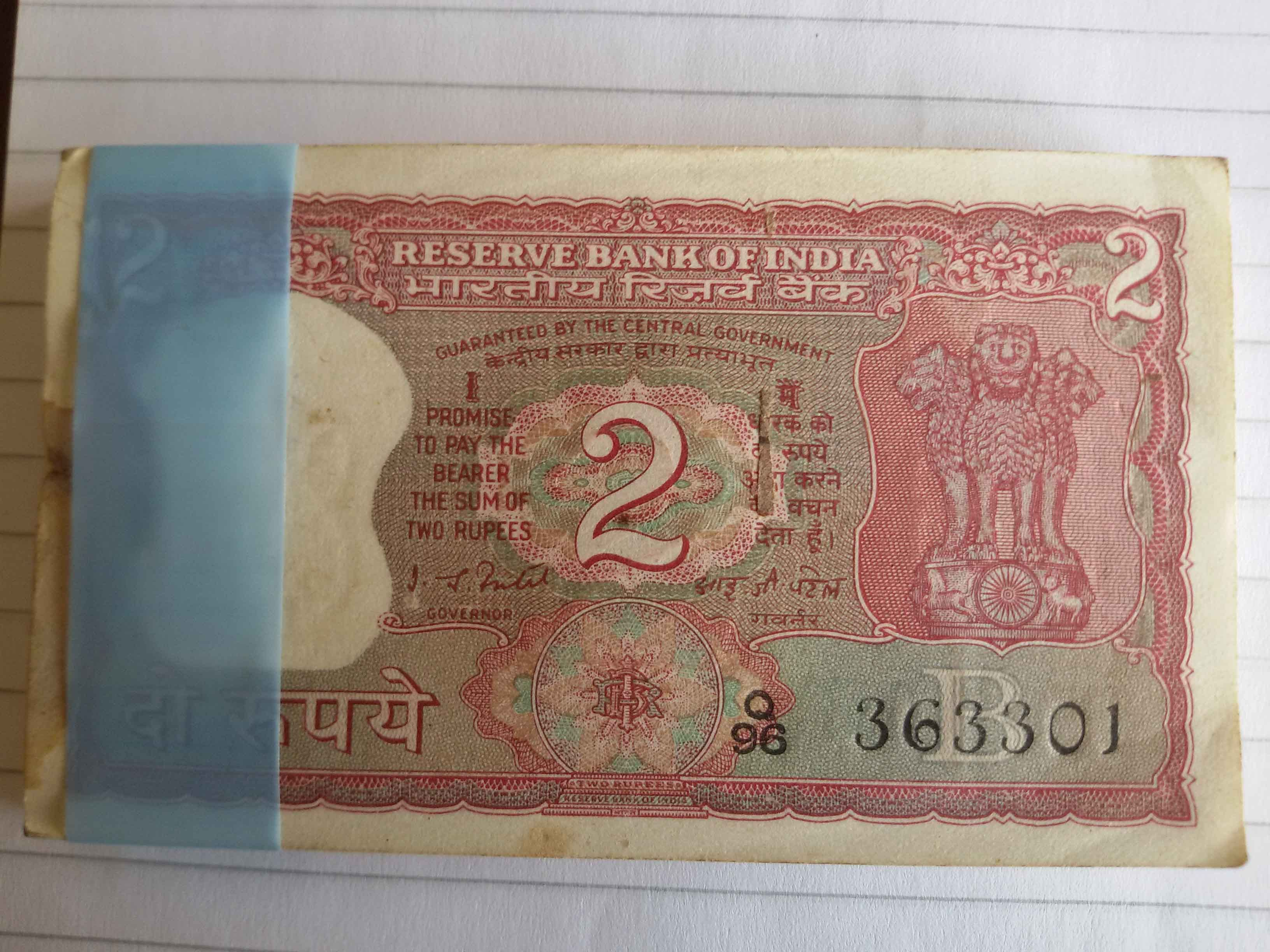 India 2rs, Banknotes Sale, Banknote Collection, Bank Notes